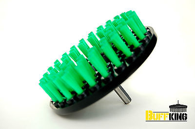 Buff King, Power Scrubbing Tool W/DRILL ATTACHMENT soft bristles - GREEN
