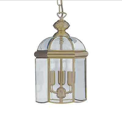 Searchlight Classic Hanging Ceiling Lantern In Antique Brass Finish 7133AB
