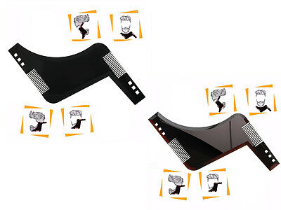 Fashion The Beard Bro-Beard men Shaping Comb Tool For Perfect Lines Cut Template