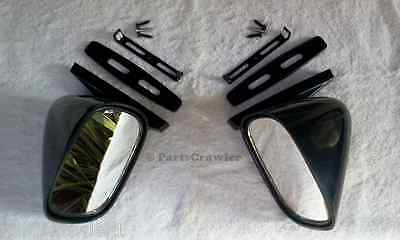 NOS Pair BLACK SPORT BULLET Hot Rod Muscle Car Side View Mirrors