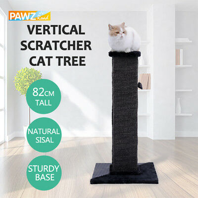 80CM Pet Cat Scratching Post Cat Tree Furniture Sisal Gym Pole Kitten Tunnel Toy