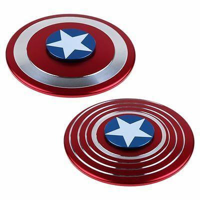 Captain America Fidget Hand Spinner Shield Toy EDC Focus ADHD Autism For Kids-CA