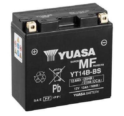 Yuasa Yt14B-Bs Motorcycle Battery Includes Acid Pack
