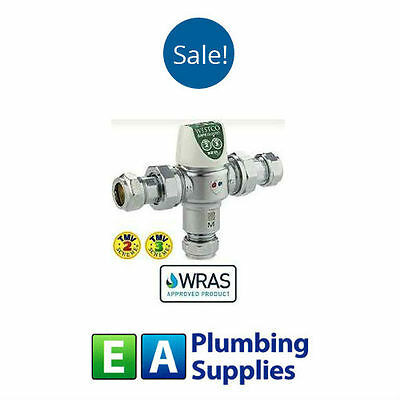 TMV 3/2 Thermostatic mixer valve 15 & 22mm WRAS & Buildcert approved