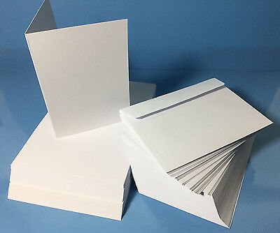 White Greeting Card Blanks (200gsm) Australian Made x 100 with Envelopes