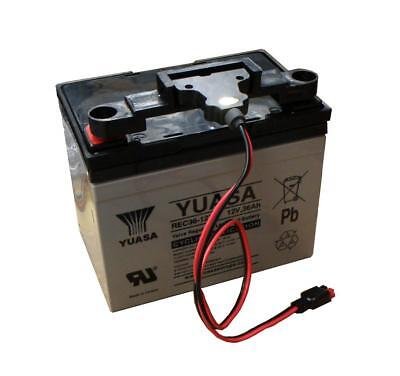 Yuasa 36Ah Golf Trolley Battery with T-Bar fitment & Lead, 12V Gel VRLA