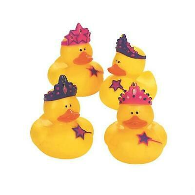 Set Of 4 Princess Fairy Magical Rubber Duck Duckies Novelty Toy Collectable