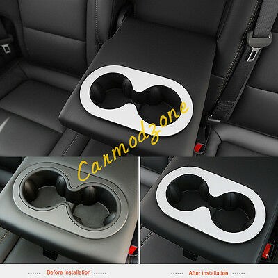 Stainless Matte  Interior Rear Water Cup Holder Frame for Chevrolet Cruze 2017
