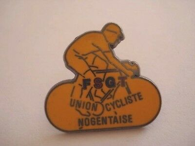 PINS RARE VINTAGE FSGT UNION CYCLISTE NOGENTAISE  ASSOCIATION  SPORT VELO wxc 28