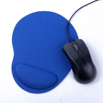 Mouse Mat Mice Pad Durable Soft Support Wrist Comfortable Ultra-Thin Blue UK