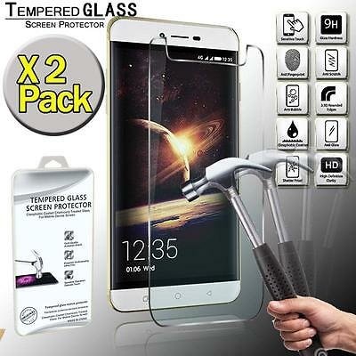 2 Pack Real Tempered Glass Screen Protector Cover For Coolpad Torino