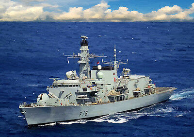 Hms Kent F78 - Hand Finished, Limited Edition (25)