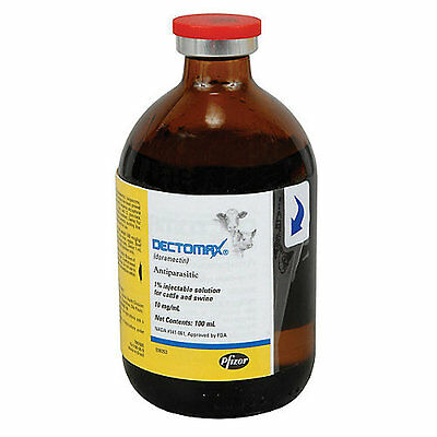 Pfizer Dectomax 1% Injectable for Cattle 100ml