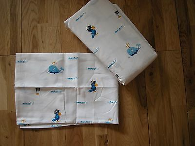NEXT PIRATE FITTED SHEET & PILLOWCASE SINGLE GOES bedset curtains RARE! NEW
