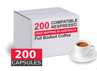 200 capsules Nespresso compatible - Full bodied  by Best Espresso *** Below cost