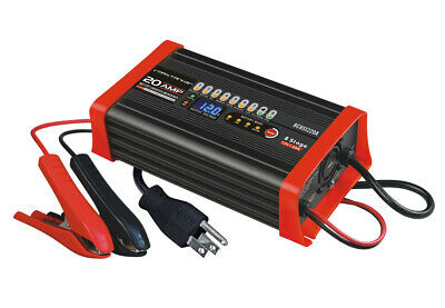 VMAX BC1220A 20A 12V 7Stage Smart Charger Maintainer AGM GEL SLA TRUCK BATTERIES