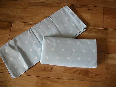 NEXT BLUE WHITE STARS BOYS SINGLE  SIZE FITTED SHEET Goes Bed set