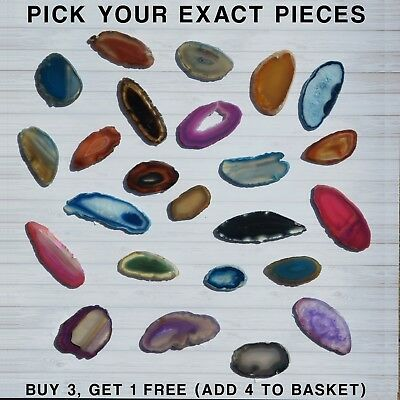 Agate Slices - Crystal Agate Slice Pink Purple Blue Red Green Black Aqua Geode