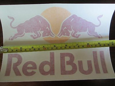Red Bull Team Athlete Die Cut Sticker with free shipping!