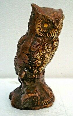 LARGE -  Vintage Style OWL statue - BRASS - RARE - Little & Very Nice