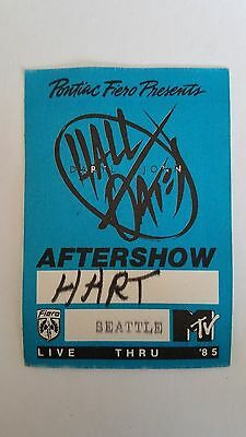 vtg (1985) DARYL HALL & JOHN OATES Seattle MTV Fiero All Access aftershow PASS