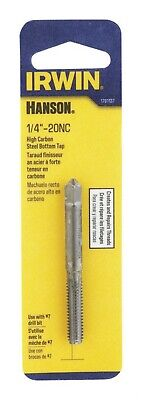 """Irwin High Carbon Steel Bottom Tap 1/4 """" - 20 Nc, No.7 20 Nc Carded"""