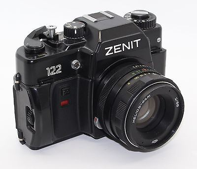 Zenit 122 35mm Film SLR Camera with 58mm lens, case, manual and box - Tested/VGC