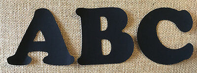 Black Iron On Letters & Numbers