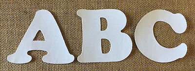 White Iron On Letters & Numbers