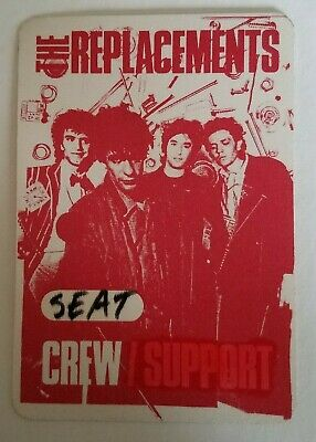 RaRe (1983) THE REPLACEMENTS Hootenanny / Let it Be Tour Seattle Backstage PASS