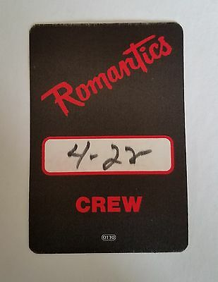 RaRe (1983) THE ROMANTICS World tour rock music crew Backstage PASS