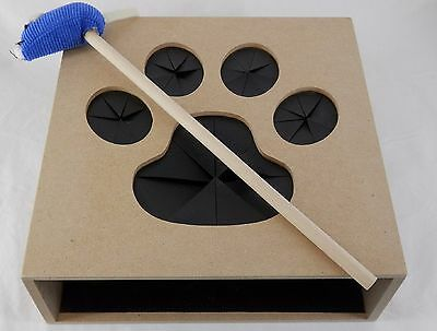 Whack a Mouse Fun Natural Wooden Interactive Cat Kitten Toy Game H90100