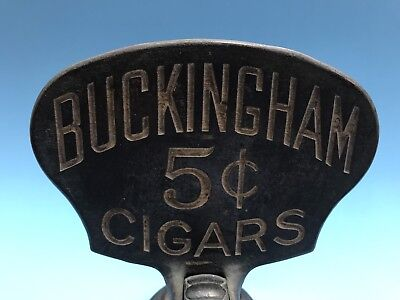 Vintage Cigar Cutter. Buckingham 5 Cents Cigars. Made /1904. Erie, PA,