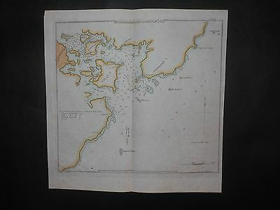 Portsmouth Harbor New Hampshire 1827 Map By Blunt Hand Color Newcastle
