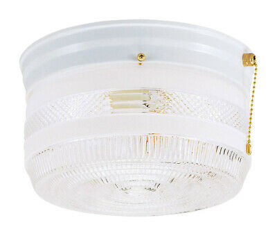 Westinghouse Flush Mount Ceiling Fixture A19 8-3/4 In. Dia White,Wht Bx 2 Light