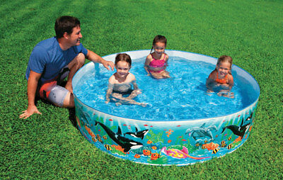Intex Snapset Pool 6 Ft. Dia X 15 In. High Rigid Poly Wall With Vinyl Bottom