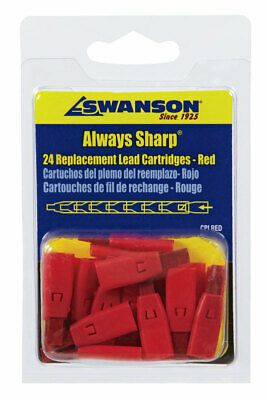 Swanson Mechanical Carpenter Pencil Replacement Tips Red Pack 1