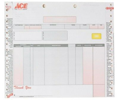 Centurion Alternative Contractors Invoice Ace Graphics 9-3/4 In. X 8-1/2 In. 100