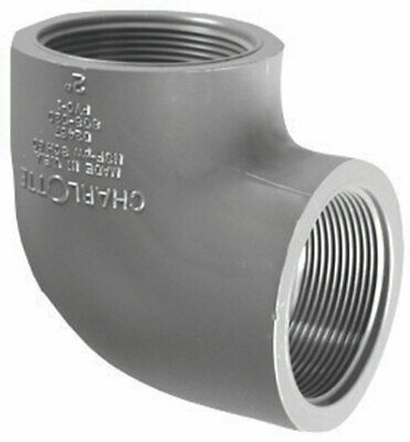 "Charlotte Pipe 90 Degree Elbow Fpt X Fpt 1-1/4 "" Gray Schedule 80 Pvc"