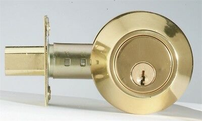 "Homeplus Deadbolt Single Cylinder 2-3/8"" Or 2-3/4"" Bkst Kw1"