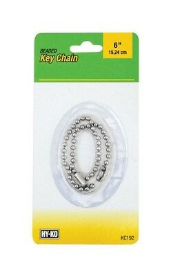 Hy-Ko Key Chain Brass, Nkl Platd Brs Carded Pack of 5