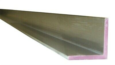 """Boltmaster Aluminum Angle 1/16"""" X 1/2"""" X 3/4"""" X 3' Carded Pack of 5"""