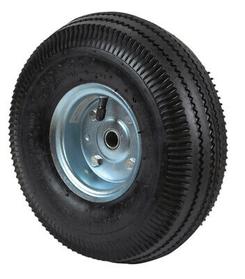 """Apex Hand Truck Replacement Tire 10""""X3.5"""" 4.10/3.5-4 Solid Rub Offset 16mm"""