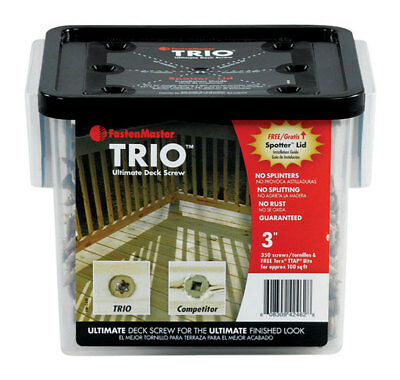"Trio Screw 3"" Tan 350pc Pack 1"