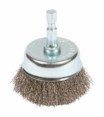 """Forney Cup Brush 2 """" Crimp, Mounted Fine Wire"""