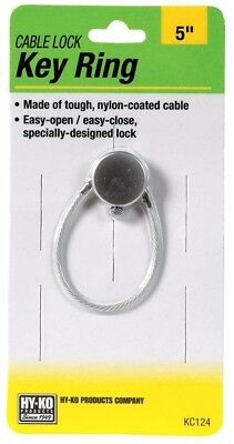 Hy-Ko Key Ring Cable Lock Nylon Carded Pack of 5