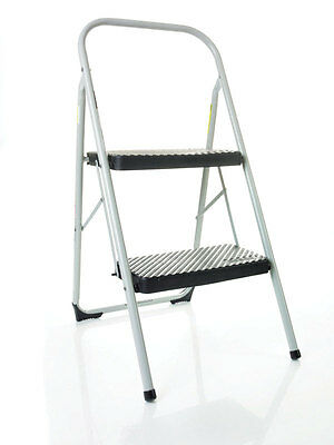 "Cosco Two Step Big Step Stool 200 Lb. Capacity 23"" Gray"