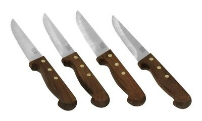 Chicago Cutlery Wood Handle Steak Knife Set Carbon 4 Pc.