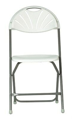 "Living Accents Folding Chair 17-3/4"" W X 17"" D X 31-5/8"" H White Plastic"