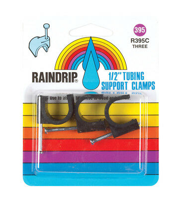 "Raindrip Tubing Support Clamp 1/2 "" Tubing Card Of 3 Pack 1"